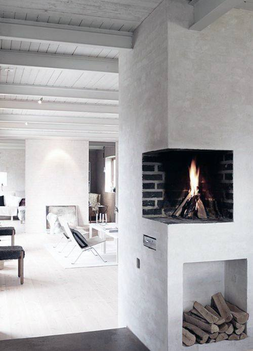 Small corner fireplace design