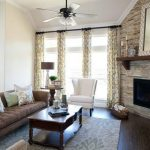 Stone Wall Corner Fireplace Design