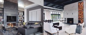 Top best concrete fireplace designs 290x118