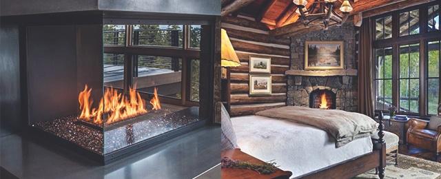 Top best corner fireplace designs