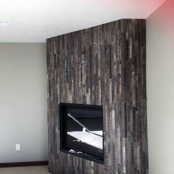 Unique corner fireplace design