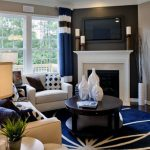 White And Cream Mantel Corner Fireplace Design
