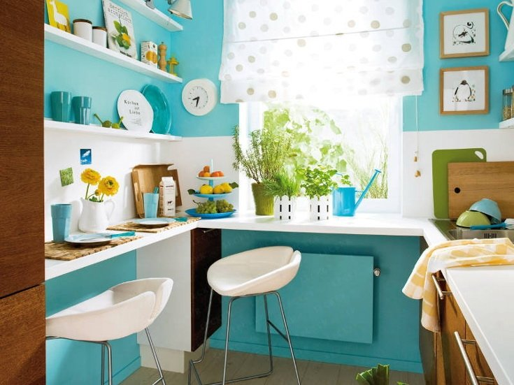 Kitchen Design Color Blue