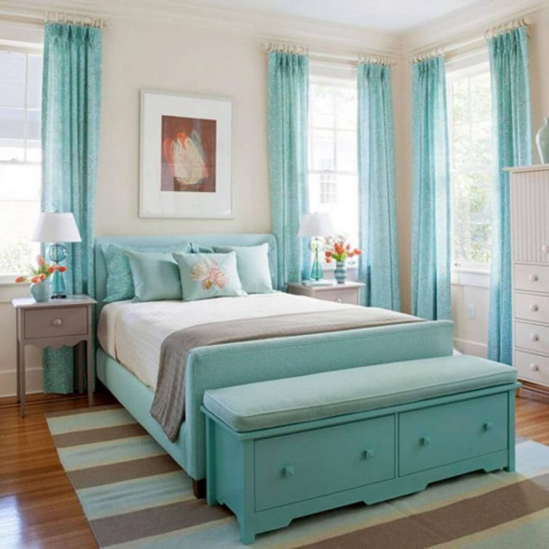 turquoise in a harmonious manner