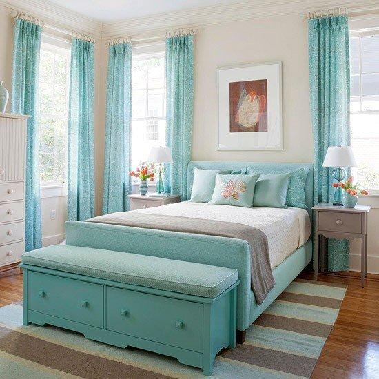 turquoise room decor